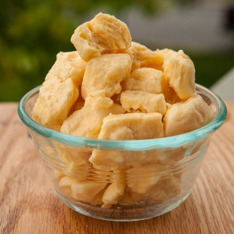 Smoked cheddar cheese curds