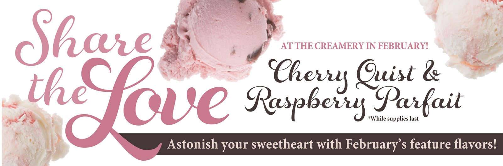 Order Ice Cream - Cherry Quist and Raspberry Parfait